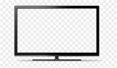 Tv Screen Transparent Flat Vector Led Clipart