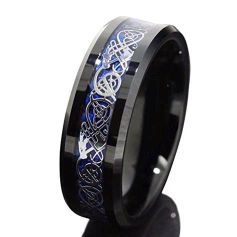 tungsten carbide mens wedding rings black jewelry white gold 8mm black tungsten carbide ring silvering celtic