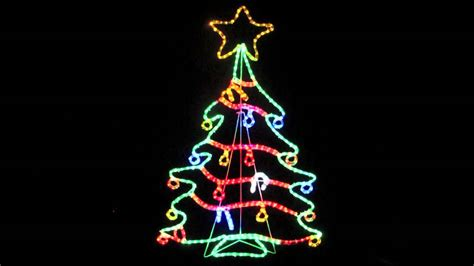 rope light silhouettes led christmas tree with