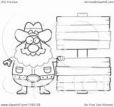Wood Signs Blank Clipart Prospector Cartoon Coloring Plump Thoman Cory Outlined Vector 2021 sketch template