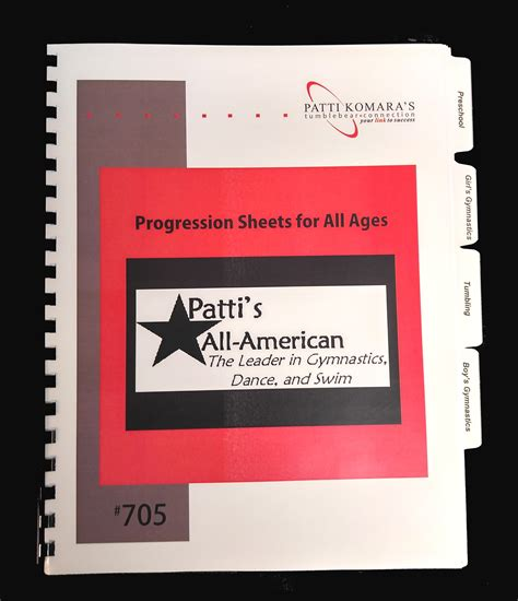705 gymnastics skill progression sheets for all ages 897 | 705