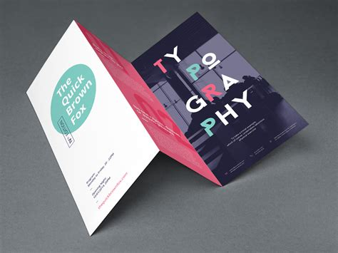 tri fold brochure mockup graphicburger