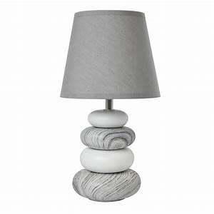 Lampe De Chevet Gifi : lampe arizona seynave tissu gris 40 w leroy merlin ~ Dailycaller-alerts.com Idées de Décoration