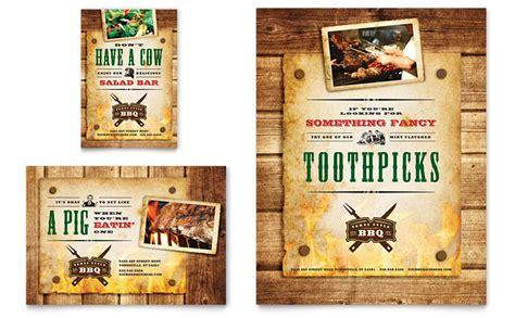 steakhouse bbq restaurant flyer ad template word