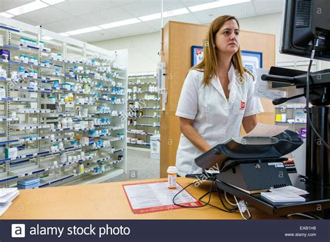 Employee Pharmacy by Miami Florida Walgreens Pharmacy Drugstore