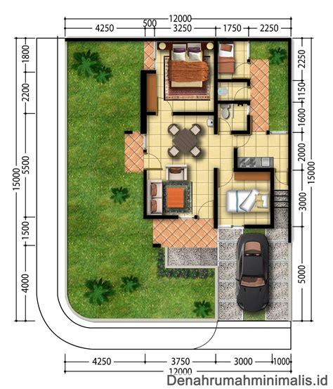 inspirasi denah rumah minimalis ukuran