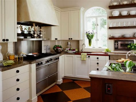 Country Style Kitchen With White Cabinets  Home Design Ideas