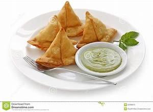 Samosa with mint chutney stock image. Image of dipping ...