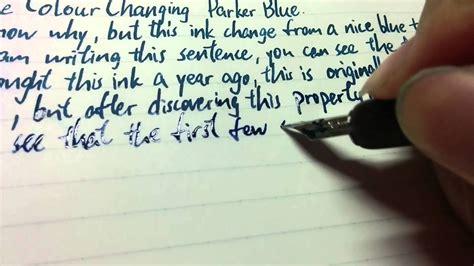colour changing parker quink blue black youtube
