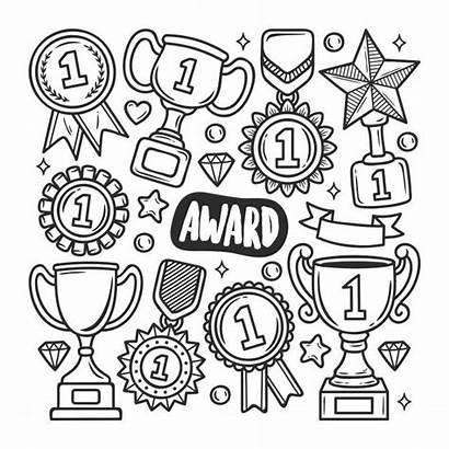 Doodle Award Freepik Icon Getrokken Drawn Icons
