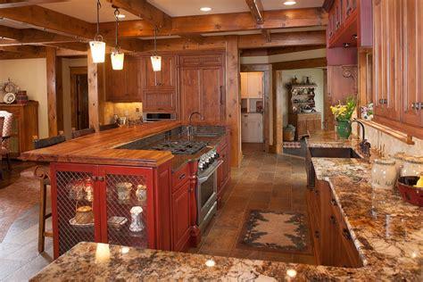 kitchen island com mullet cabinet rustic kitchen retreat