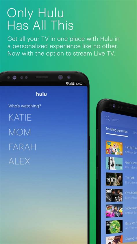 hulu tv more for android free