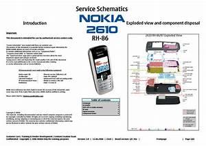 Nokia 2610 Rh86 Service Schematics Service Manual Download  Schematics  Eeprom  Repair Info For