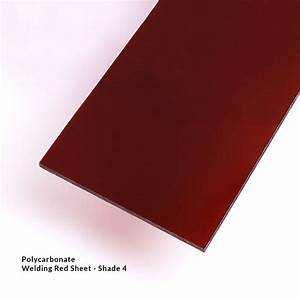 Red Polycarbonate Welding Sheet Shade 4 Vs Eyewear Products