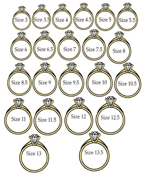 actual size ring size finder rings pinterest wedding