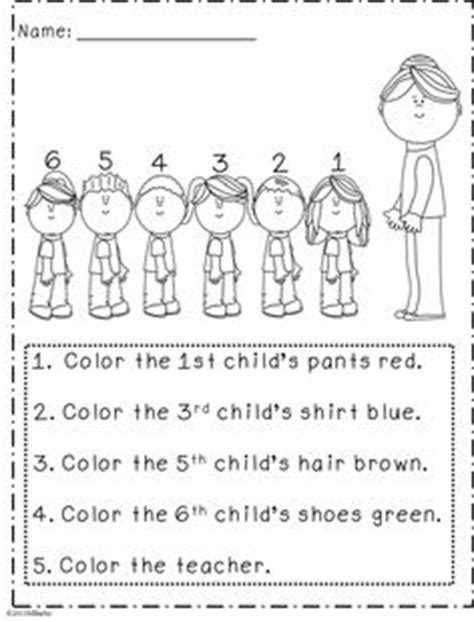 following directions activity for grade