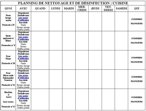 plan de nettoyage cuisine plan de nettoyage cuisine collective ohhkitchen plan de