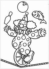 Circus Coloring Pages Simple Printable Children Adult Sheet sketch template