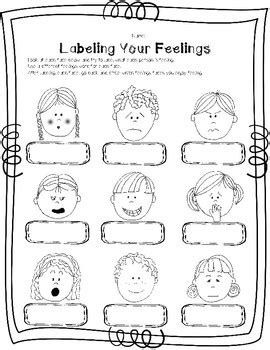 labeling feelings faces by green counseling tpt