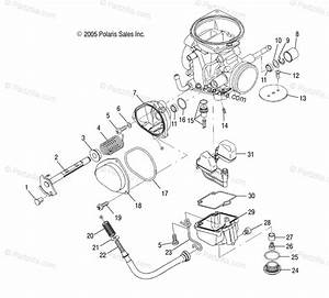 Polaris Atv 2010 Oem Parts Diagram For Engine  Lower Carburetor