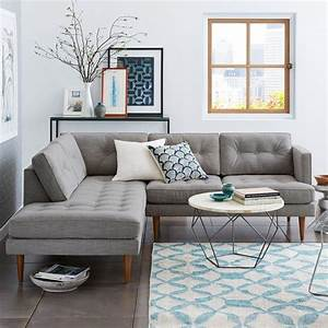 Peggy mid century terminal chaise sectional west elm uk for West elm peggy sectional sofa