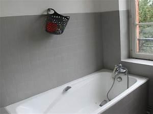 Repeindre Une Baignoire émaillée : comment recouvrir un carrelage de salle de bain recouvrir ~ Premium-room.com Idées de Décoration