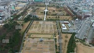 Aerial View Of UN Memorial Cemetery In Busan, South Korea ...