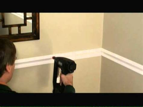 How To Install Chair Rail Video Youtube