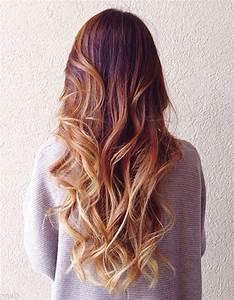 Ombré Hair Cuivré : balayage cuivr et pointes blond miel balayage cuivr ~ Melissatoandfro.com Idées de Décoration