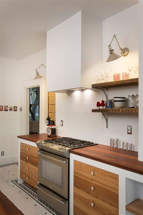 simple plaster range hood eclectic kitchen kitchen