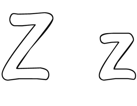 Z Free Alphabet Coloring Pages