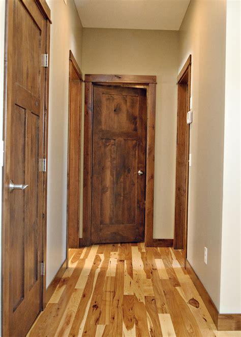 knotty alder  panel craftsman style interior door