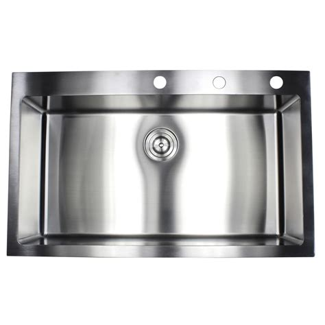 kitchen sink packages 36 inch drop in top mount stainless steel single bowl 2810