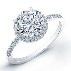 pretty engagement rings stunning u cut pave side stones halo wedding sets in white gold