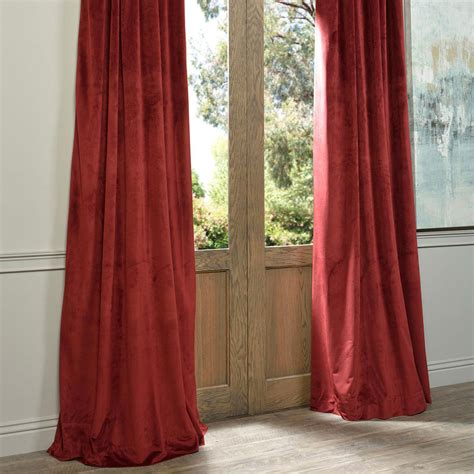 Burgundy Velvet Blackout Curtains by Signature Burgundy Blackout Velvet Pole Pocket Single