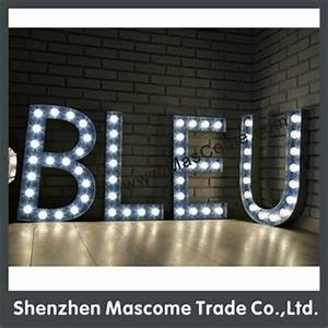 large outdoor led sign light box letters vintage letter With large outdoor sign letters