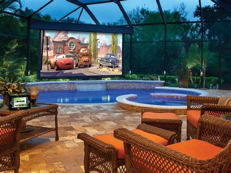 Creating An Outdoor Home Theater  Wearefound Home Design
