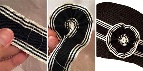 making  removable ribbon hat band tutorial part   sews