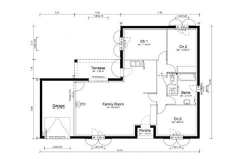 plan de maison 5 chambres plain pied plan maison sega modèle et plan de maison sega