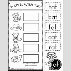Free Word Family At Practice Printables And Activities  Preschool Ideas & Activities Phonics