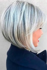 Short Bob Hairstyles Gray Hair