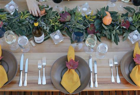 Herbst Tischdeko Natur