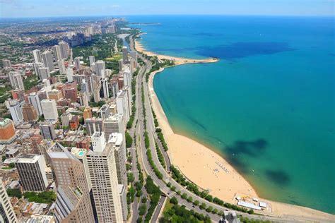 michigan chicago lake beach illinois weather states united america northern medium forecast