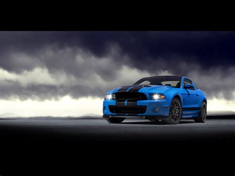 Blue Mustang Wallpaper Iphone by 2013 Blue Gt Front Angle Wallpapers 2013 Blue Gt Front
