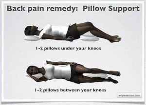 How to sleep with lower back pain your knees if you for Back pain when sleeping on back
