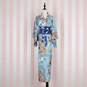 Japanese Kimono Cosplay Costume Traditional Cotton ...