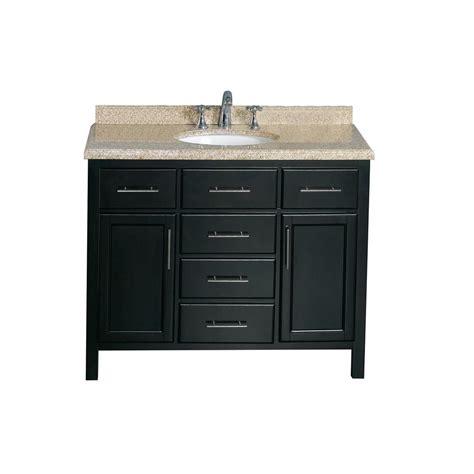 complete kitchen cabinets for ove decors malibu 42 in w vanity in espresso with granite 8297