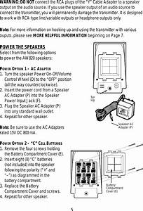 Recoton Advent Speaker System Aw820 Users Manual Aw820
