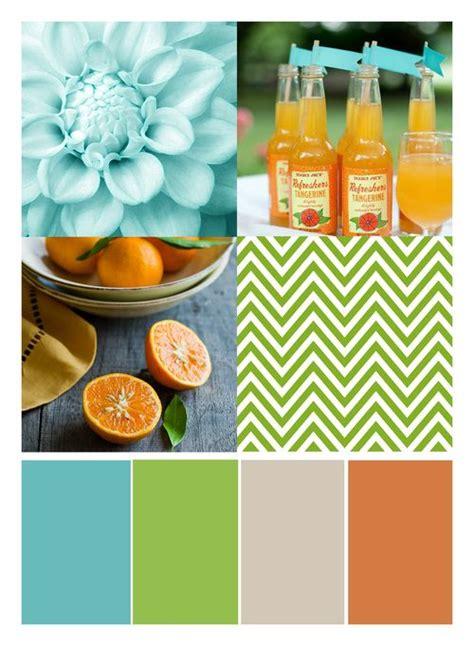 Aqua Lime Orange Color Palette
