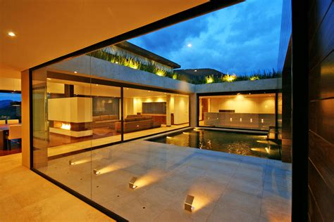 The Lighting House by Courtyard Lighting Water Feature Ar House In La Calera
